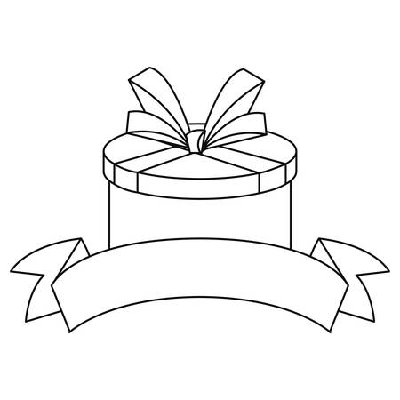 gift box ribbon on white background vector illustration