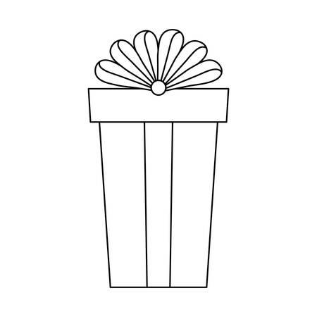 gift box present icon vector illustration design Ilustrace