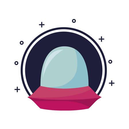 video game pixelated spaceship vector illustration design  イラスト・ベクター素材