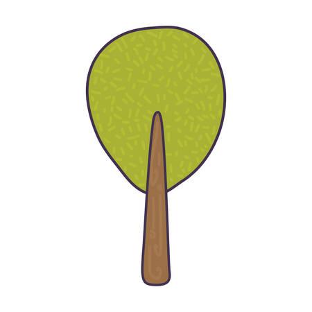 tree plant isolated icon vector illustration design Çizim