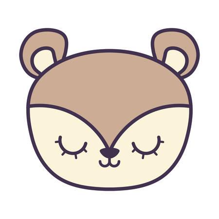 head of cute porcupine animal isolated icon vector illustration design Ilustração