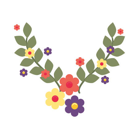 floral flowers leaves decoration vector illustration dcesign vector illustration Stok Fotoğraf - 132311684