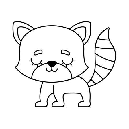 cute raccoon animal isolated icon vector illustration design Illustration