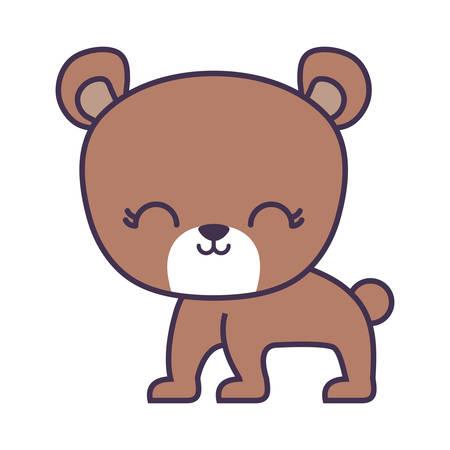 cute bear animal isolated icon vector illustration design Illustration
