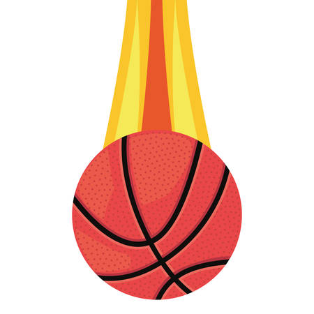flying basketball ball sport vector illustration design
