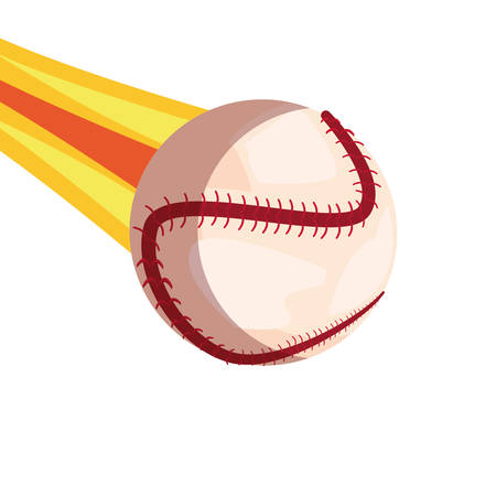 flying baseball ball sport vector illustration design