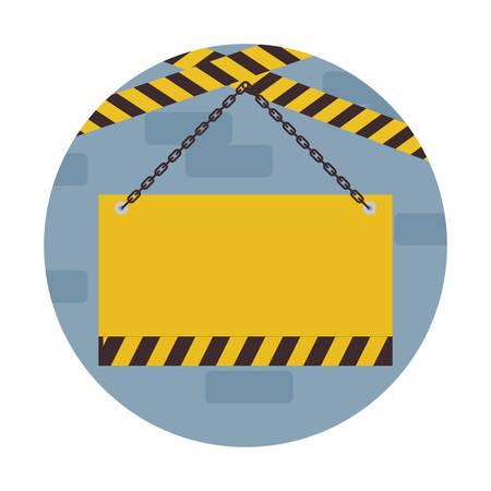 signaling hanging isolated icon vector illustration design Illustration