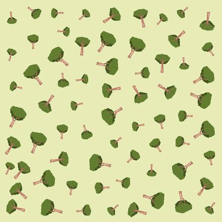 tree forest ecology botanical background vector illustration