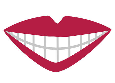 mouth with perfect teeth vector illustration design