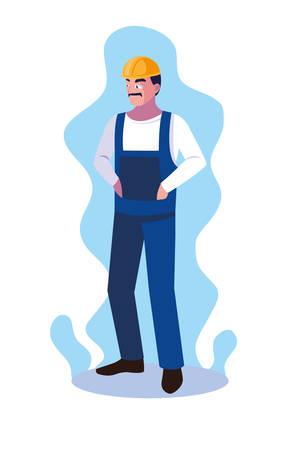 engineer man design, Worker profession industry construction technology and occupation theme Vector illustration