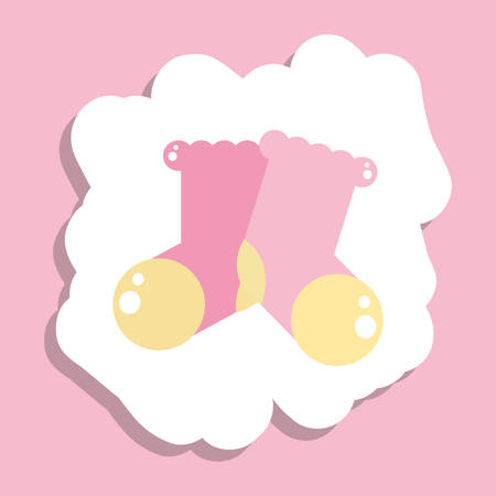 cute socks baby isolated icon vector illustration design