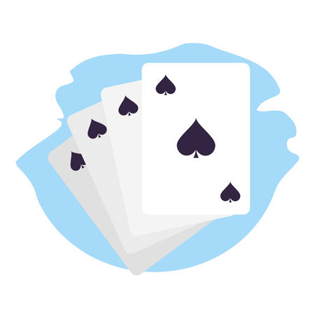 poker casino game cards icons vector illustration design