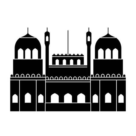 amritsan golden temple emblematic of indian vector illustration design