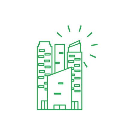 facade building urban isolated icon vector illustration design Banco de Imagens - 132513011