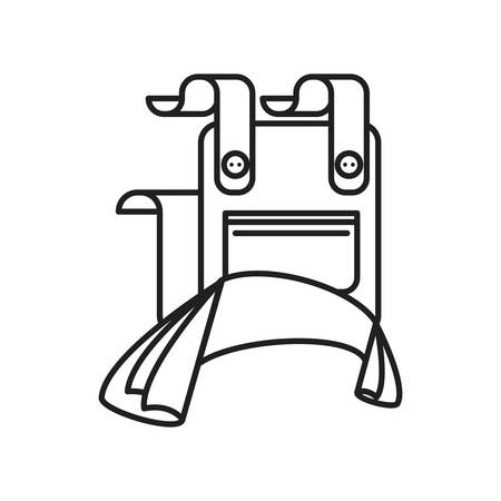 overalls work wear emblem icon vector illustration design