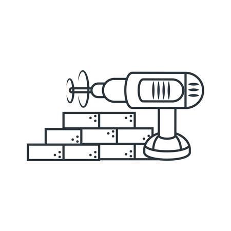 Bricks design, under construction work repair progress reconstruction industry and build theme Vector illustration