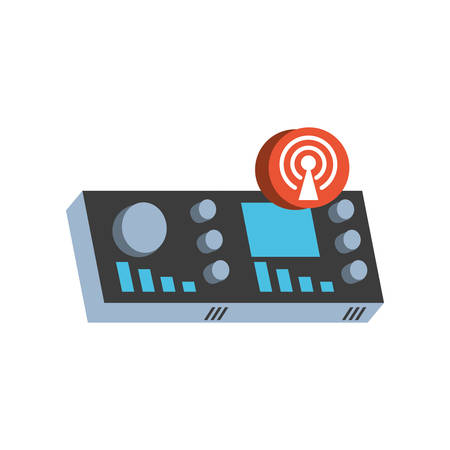 antena button with wifi connection vector illustration design Standard-Bild - 132559364