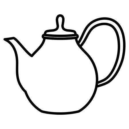 teapot icon over white background, vector illustration