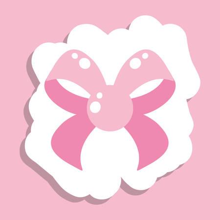 cute bow ribbon isolated icon vector illustration design Standard-Bild - 132559378