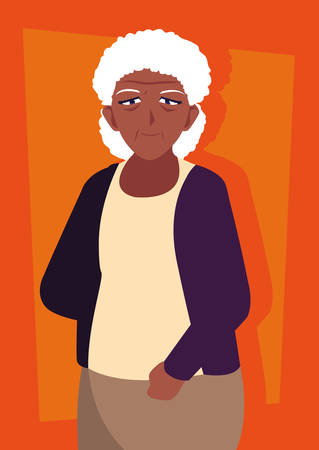 old woman afro avatar character vector illustration design Foto de archivo - 132530660