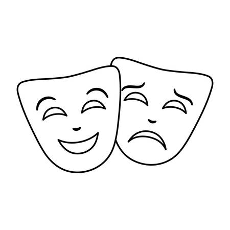 masks theater traditional isolated icon vector illustration design 일러스트