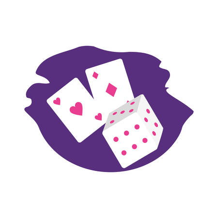 poker casino game card with dices vector illustration design Illusztráció