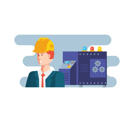 Worker design, Working occupation person job corporate employee and service theme Vector illustration