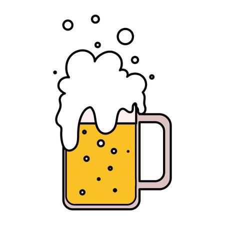mug of beer in white background vector illustration design Ilustracja