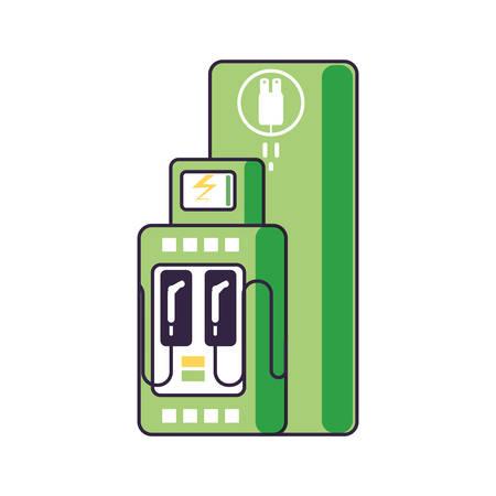 energy electric service station isolated icon vector illustration design Ilustracja