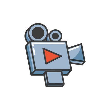 video camera film device icon vector illustration design Banque d'images - 132556417