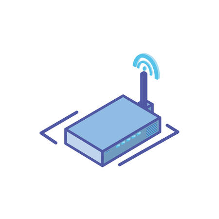 wireless router on white background vector illustration design
