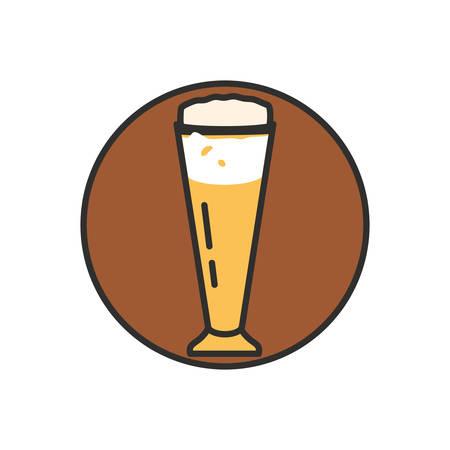 glass of beer oktoberfest icon vector illustration design
