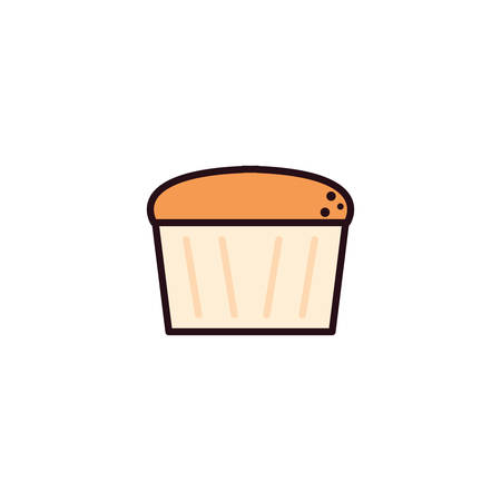 delicious and fresh cupcake in white background vector illustration design