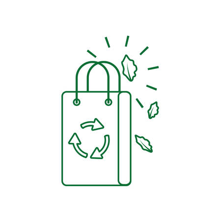 paper bag eco friendly isolated icon vector illustration design
