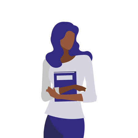 young black girl student modeling vector illustration design Иллюстрация