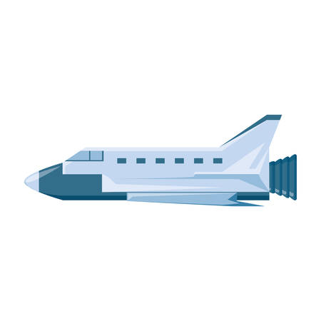 spaceship vehicle isolated icon vector illustration design