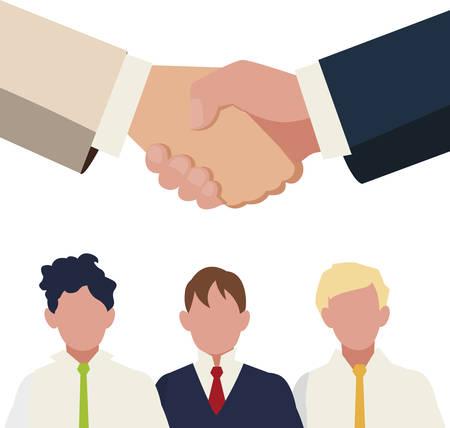 businessmen group teamwork characters vector illustration design