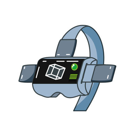 virtual reality glasses isolated icon vector illustration design