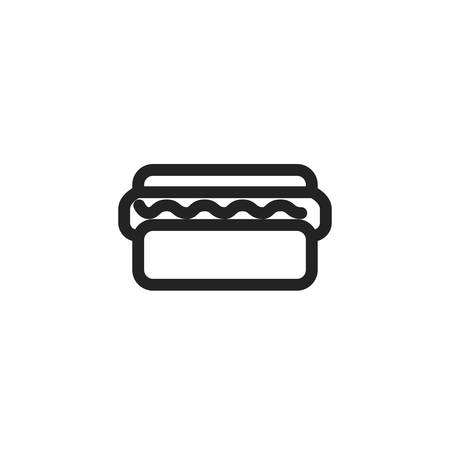 hot dog icon design, Eat food restaurant menu dinner lunch cooking and meal theme Vector illustration Ilustração