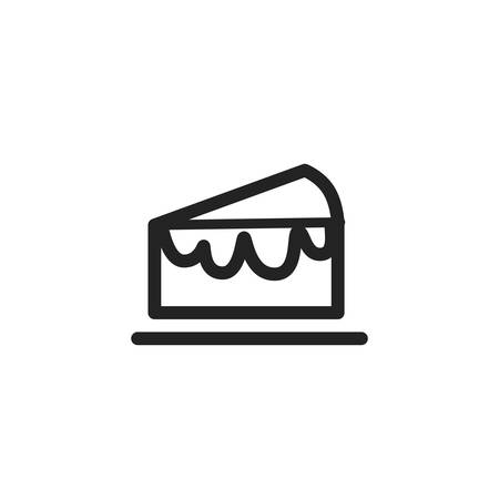 Sweet cake icon design, dessert food delicious sugar snack and tasty theme Vector illustration