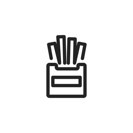 french fries icon design, Eat food restaurant menu dinner lunch cooking and meal theme Vector illustration