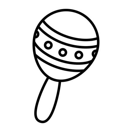 maraca tropical instrument icon vector illustration design