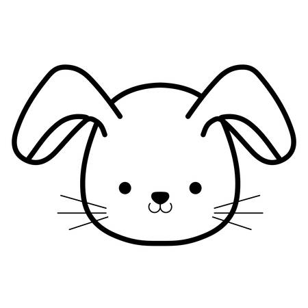 cute and little rabbit character vector illustration design Illustration