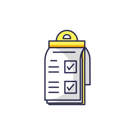 checklist clipboard isolated icon vector illustration design Stock Illustratie