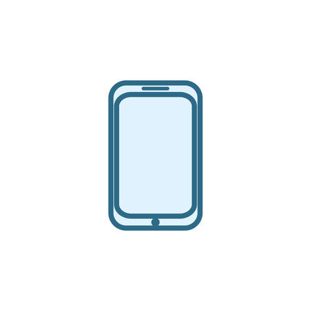 Smartphone icon design, Digital technology communication social media internet web and wireless theme Vector illustration