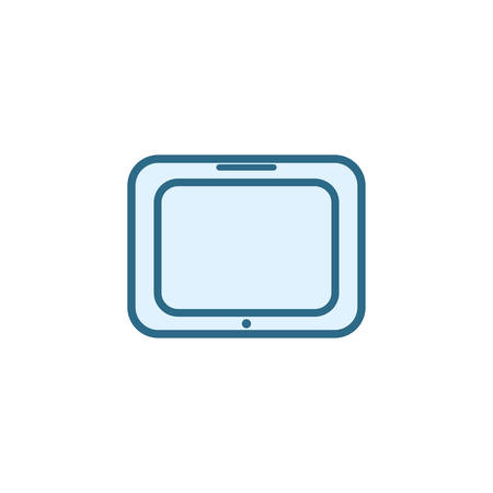 tablet icon design, Digital technology communication social media internet web and wireless theme Vector illustration