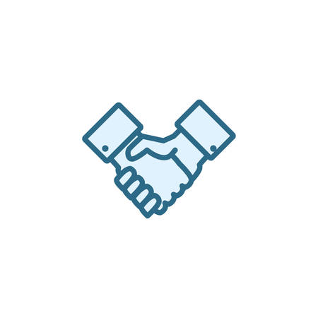 hand shake icon design, business management workforce financial corporate investment and occupation theme Vector illustration Ilustração