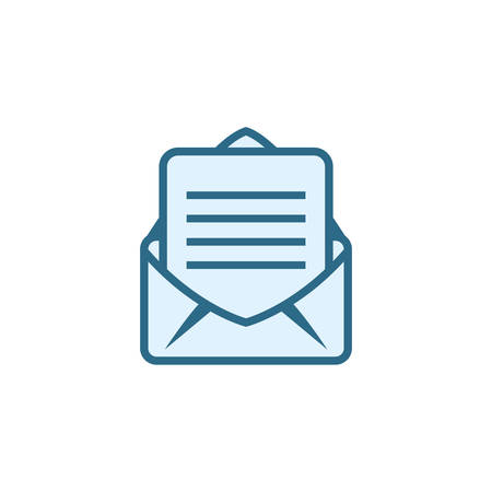 Envelope icon design, Email mail message letter marketing communication card and document theme Vector illustration Ilustração