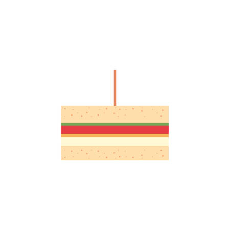 Sandwich icon design, Eat food restaurant menu dinner lunch cooking and meal theme Vector illustration