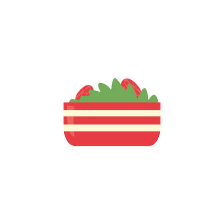 salad icon design, Eat food restaurant menu dinner lunch cooking and meal theme Vector illustration
